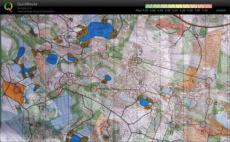 Forssa Games June 16th 2010 Orienteering Map from