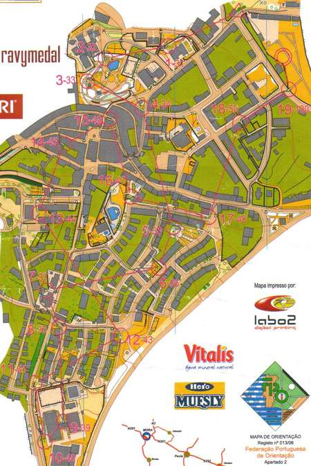 Sprint Mora Portugal March 4th 2006 Orienteering Map From