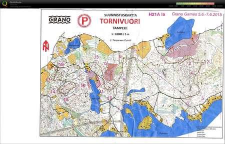 Grano Games Keskari June 6th 2015 Orienteering Map From Juha Luoma