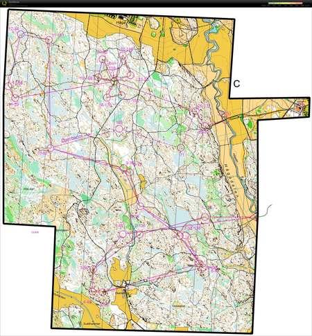Tisdagsnatt March 18th 2014 Orienteering Map From Simon Eklov