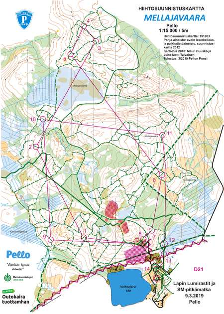 Hs Sm Pitka Matka D21 11 43 March 9th 2019 Orienteering Map