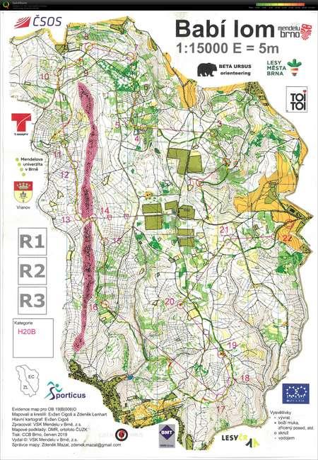 4 Zb Morava June 15th 2019 Orienteering Map From Tomas Vavrik