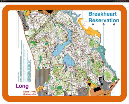 Breakheart Training - April 2nd 2011 - Orienteering Map from ...