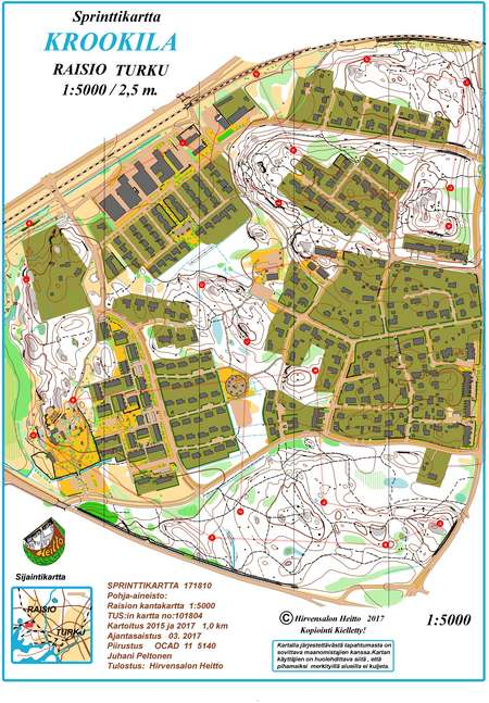 Turku Rastit 26 9 2018 September 26th 2018 Orienteering Map