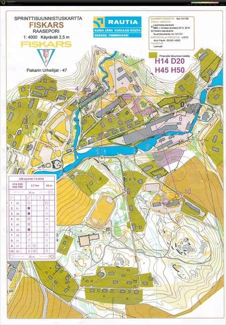Am Sprintti September 7th 2016 Orienteering Map From Markku Helin