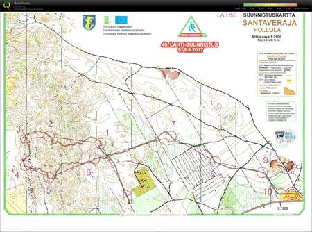 Lahtisuunnistus 1pv August 5th 2017 Orienteering Map from