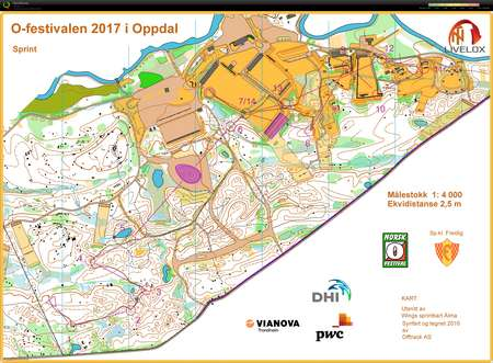 Ofestivalen sprint June 23rd 2017 Orienteering Map from Emma