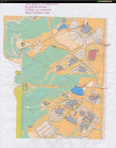 Tour De Ku Part 3 November 24th 2017 Orienteering Map From Mary