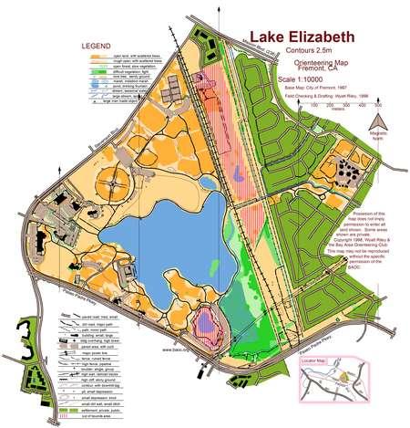 lake elizabeth ca map Lake Elizabeth December 20th 2008 Orienteering Map From Bay lake elizabeth ca map