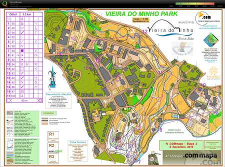 Iv Torneio Ponto Com Mapa November 6th 2010 Orienteering Map