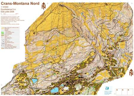 EOM 2006 CransMontana August 20th 2006 Orienteering Map from