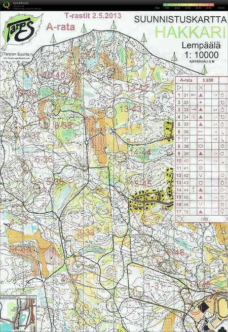 Training Rauma June 4th 2015 Orienteering Map from Markus Plohn