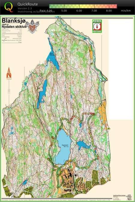 Raskinnet May 2nd 2009 Orienteering Map From Henning Spjelkavik