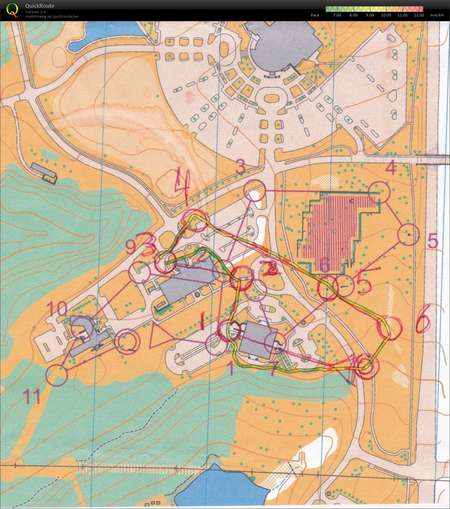 Ku West Campus Quick 2 February 16th 2019 Orienteering Map From
