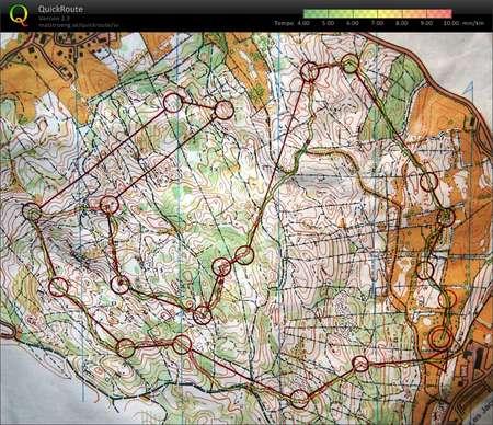 Lugn Ol September 30th 2010 Orienteering Map From Gustav Bergman
