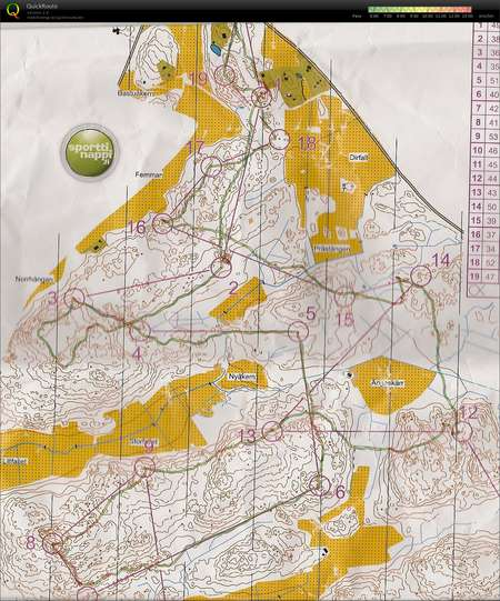 Kayratreeni Parainen 030416 April 3rd 2016 Orienteering Map