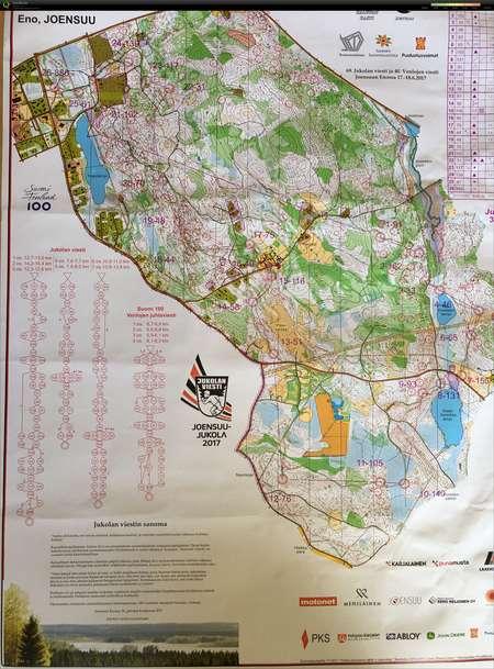 Joensuu Jukola 2017 June 18th 2017 Orienteering Map from Stefan
