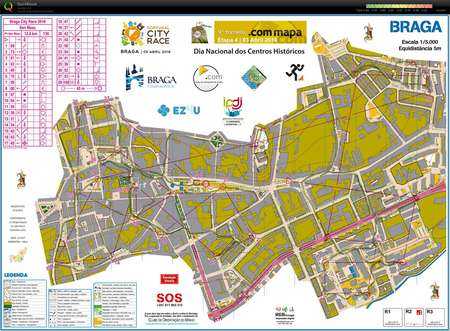 Braga City Race April 3rd 2016 Orienteering Map from Lus Miguel
