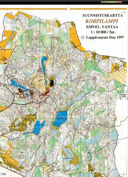 Getting Dark In Serena Part 1 May 19th 2010 Orienteering Map