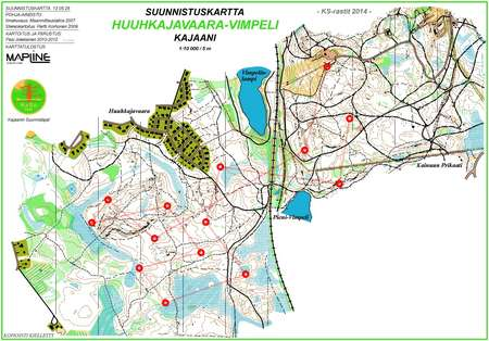 Ks Rastit Vimpeli May 27th 2014 Orienteering Map From Kajaanin