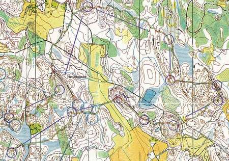 Getting Dark In Serena Part 2 May 19th 2010 Orienteering Map