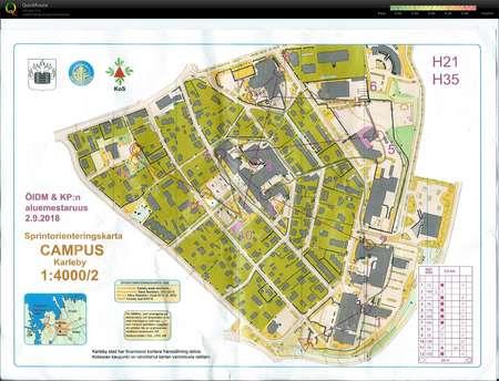 Kokkolan Sprint 1 September 2nd 2018 Orienteering Map From