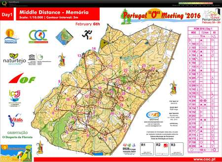 Portugal O Meeting Etapp February Th Orienteering Map - Portugal map distances