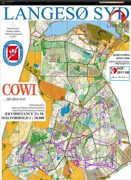 Dm Stafet Langeso H55 September 9th 2017 Orienteering Map From