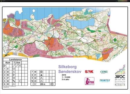 Veivalgsokt Sonderskov March 14th 2019 Orienteering Map From