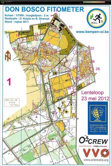 Don Bosco Orienteering Map From Toine De Kort