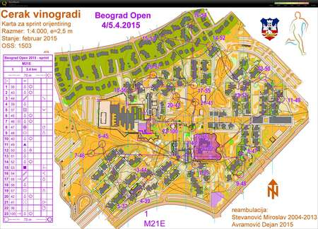 Beograd Open 2015 Stage 1 Sprint April 4th 2015