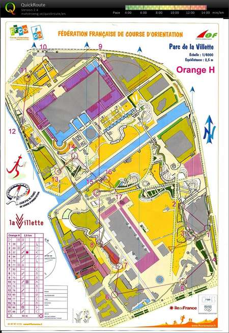 Paris Challenge September Th Orienteering Map From - Paris map 2016