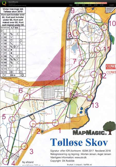 Vtr I Tollose December 8th 2019 Orienteering Map From Tage