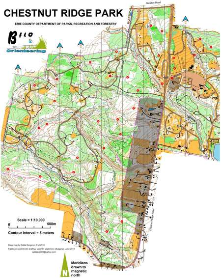 C Cities Challenge Long At Chestnut Ridge August 7th 2011 Orienteering Map From Misc Us Events