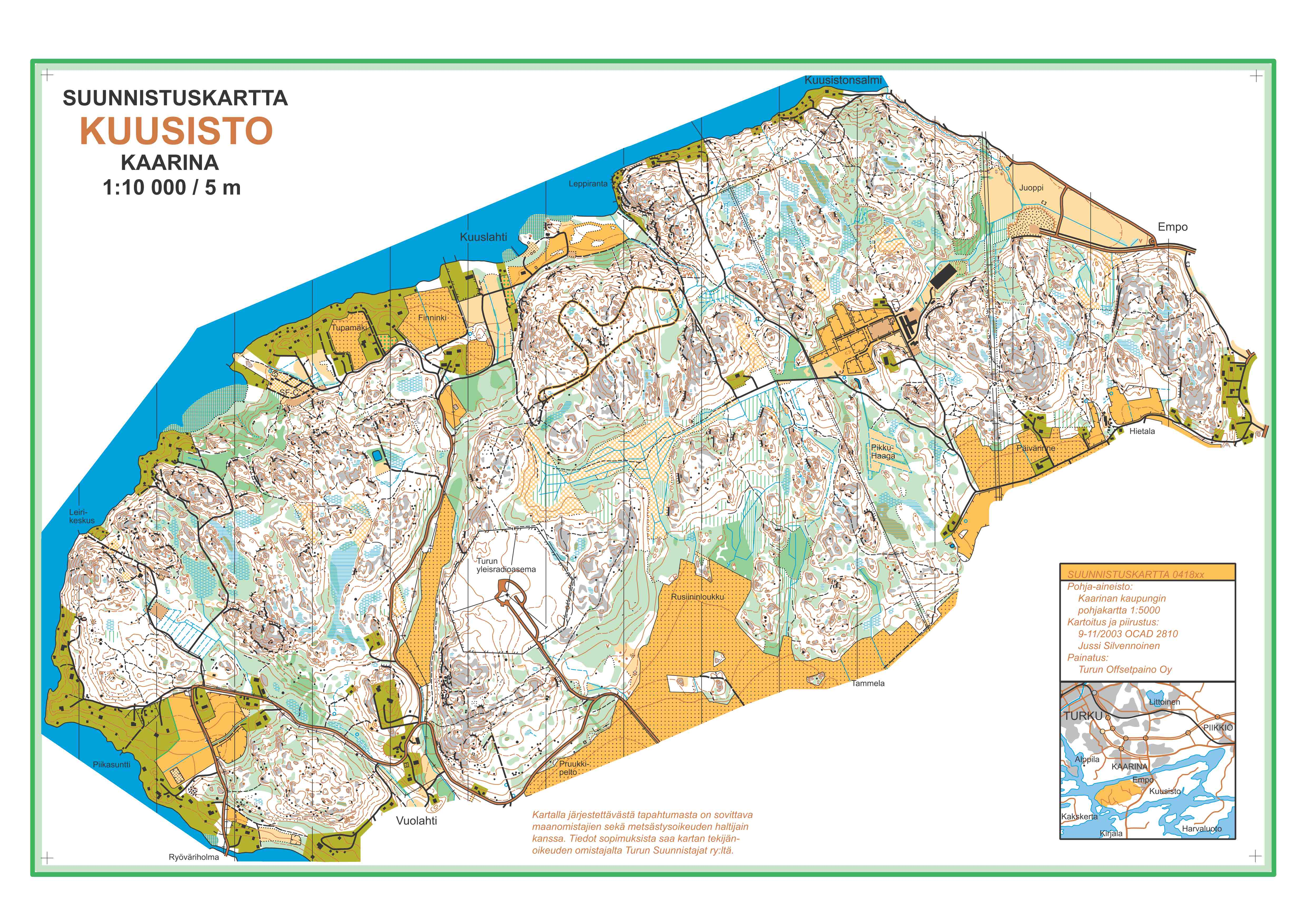 NORT 2013 Race 5 - old map - June 8th 2013 - Orienteering Map from NORT